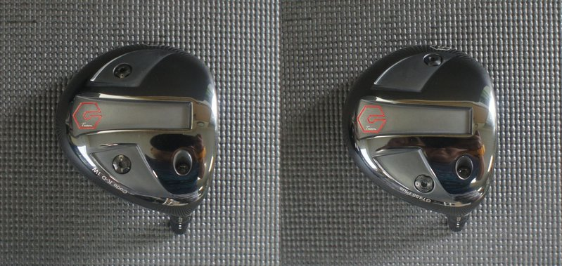 ウエイトボルトの位置が違います ※右が[GT 455 Plus]左が[Cord K]